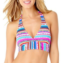 Anne Cole Signature Womens Retro Braided Halter Bikini Top