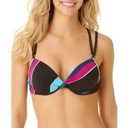 8f0abd4461c Cole of California Womens Pom Pom Rings Twist Bikini Top