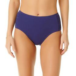 Cole of California Womens Shirred High Waist Swim Bottoms