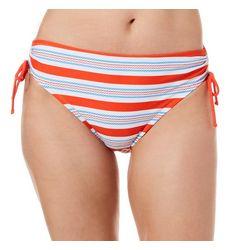 Beach Diva Womens Anchors Away Striped Swim Bottoms