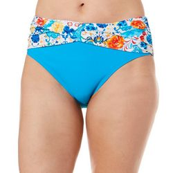 Beach Diva Womens Paisley Print Swim Bottoms