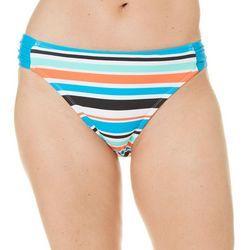Beach Diva Womens Stripe Print Swim Bottoms