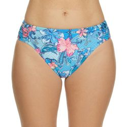 Beach Diva Womens Floral Paisley Print Swim Bottoms