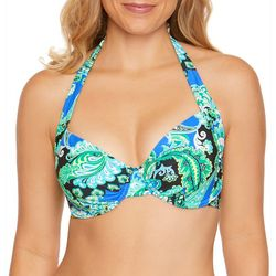 Beach Diva Womens Luxe Life Paisley Print Bikini Top
