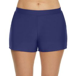 Beach Diva Womens Solid Basic Swim Shorts