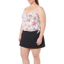 Coco Reef Womens Floral Grace Bandeau Tankini Top