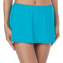 Coco Reef Womens Solid Side Split Hem Swim Skirt
