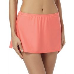 Coco Reef Womens Solid Side Split Hem Swim Skirt