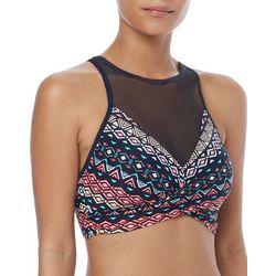 Coco Reef Womens Golden Canyon Mesh Panel Bikini Top