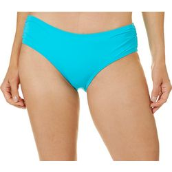 Coco Reef Womens Solid Shirred Side Swim Bottoms
