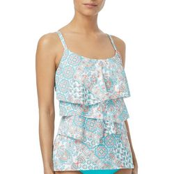 Coco Reef Womens Aura Medallion Tiered Tankini Top