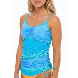 Reel Legends Womens Sonic Ombre Print Tankini Top
