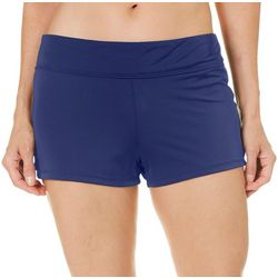 Reel Legends Womens Elastic Banded Waist Swim Shorts