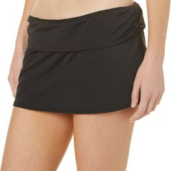 Reel Legends Womens Foldover Waisband Swim Skirt