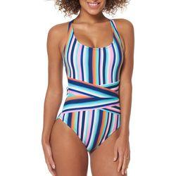 Skechers Womens Hype The Stripe Tidal One Piece Swimsuit