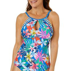 Into the Bleu Womens Beach Side Beauty Tankini Top