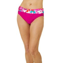 Into The Bleu Womens Tr opical Fever Hipster Swim Bottoms