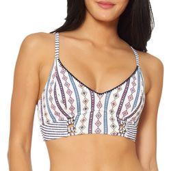 Jessica Simpson Womens Morroccan Stripe Bikini Top