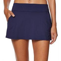 Nautica Womens Solid Core Swim Skirt