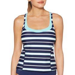 Jag Sport Womens Stripe Print Tankini Top