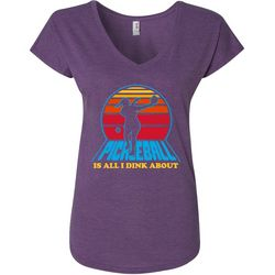 Anvil Womens Pickleball Is All I Dink About T-Shirt