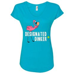 Anvil Womens Flamingo Designated Dinker T-Shirt