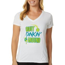 Anvil Womens Quit Dinking Around Pickleball T-Shirt