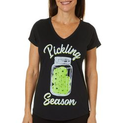 Anvil Womens Pickling Season Pickleball T-Shirt