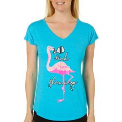 Anvil Womens Dink Flamingo Pickleball T-Shirt