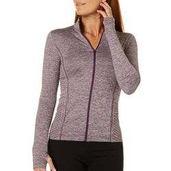 Etonic Womens Solid Mock Neck Zippered Jacket