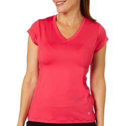 Etonic Womens Solid V-Neck T-Shirt