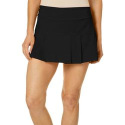 Etonic Womens Soild Pleated Knit Skort