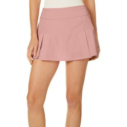 Etonic Womens Soild Inverted Pleat Knit Skort