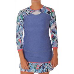 Sofibella Womens Freya Garden 3/4 Sleeve Active Top