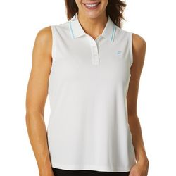 Dink Up Womens Solid Sleeveless Pickleball Polo Shirt