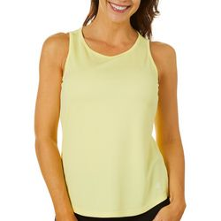 Dink Up Womens Solid Keyhole Sleeveless Pickleball Shirt