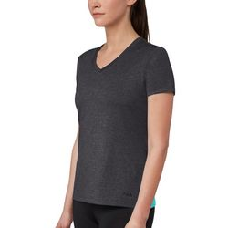 Fila Womens Heathered Active V-Neck Silky T-Shirt