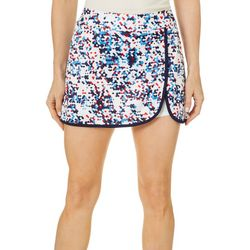 Grand Slam Womens Confetti Print Athletic Skort