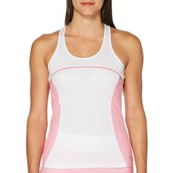 Grand Slam Womens Geometric Panel Racerback Tank Top