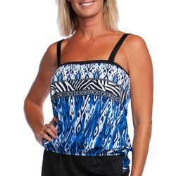 Maxine Womens Safari Bandeau Tankini Top