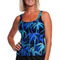 Maxine Womens Bamboo Print Tankini Top