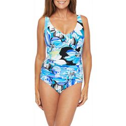 Maxine Womens Retro Floral Mio One Piece Swimsuit