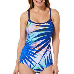 Maxine Womens Palm Party Mio Girl Leg One Piece Swimsuit