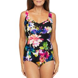 Maxine Womens Camilla Girl Leg One Piece Swimsuit