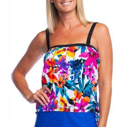 Maxine Womens Key West Bandeau Blouson Tankini Top