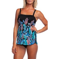 Maxine Womens Prairie Dreams Sarong One Piece Swimsuit