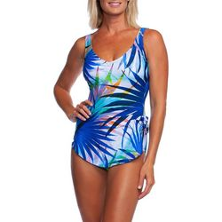b4c3c55c715bc Maxine Womens Palm Party Sarong One Piece Swimsuit