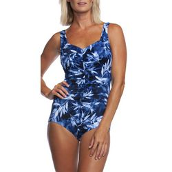 Maxine Womens Prairie Dreams Faux Tankini High Neck Swimsuit