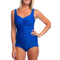 Maxine Womens Solid Girl Leg One Piece Swimsuit