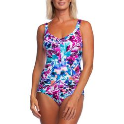Maxine Womens Parisian Girl Leg One Piece Swimsuit